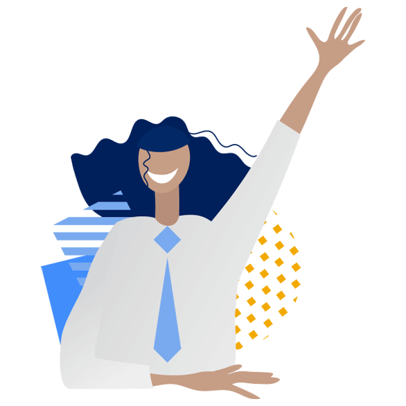 illustration of person waving